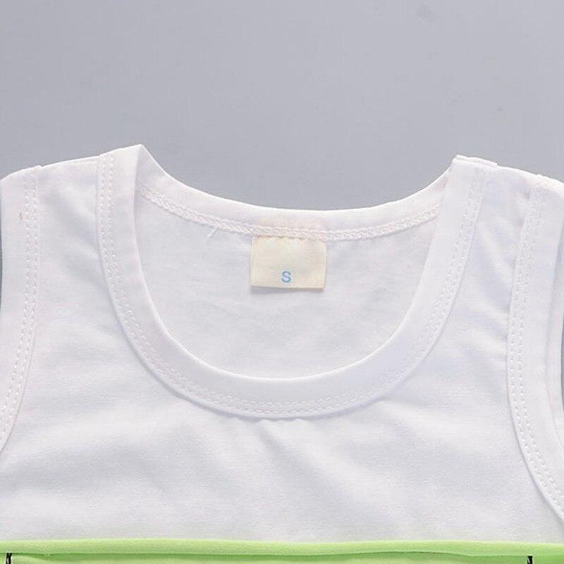 Fajne letnie zestawy niemowlęce z nadrukiem listowym i bez rękawów - Ubrania dziecięce - Zdjęcie 4