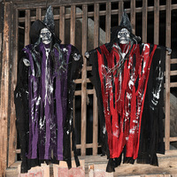 Halloween Horror Props Skeleton Devil Little Spirits Haunted House Decoration Electric Supplies Sound Glowing Voice Control