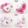 0-1 sapatos comércio sapatos de bebê criança do sexo feminino botas de neve de inverno quente sapatos de bebê fundo macio