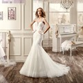 mermaid cheap wedding dress 2017 new sexy sweetheart neck cap sleeve see through back robe de mariage wedding gowns vestidos