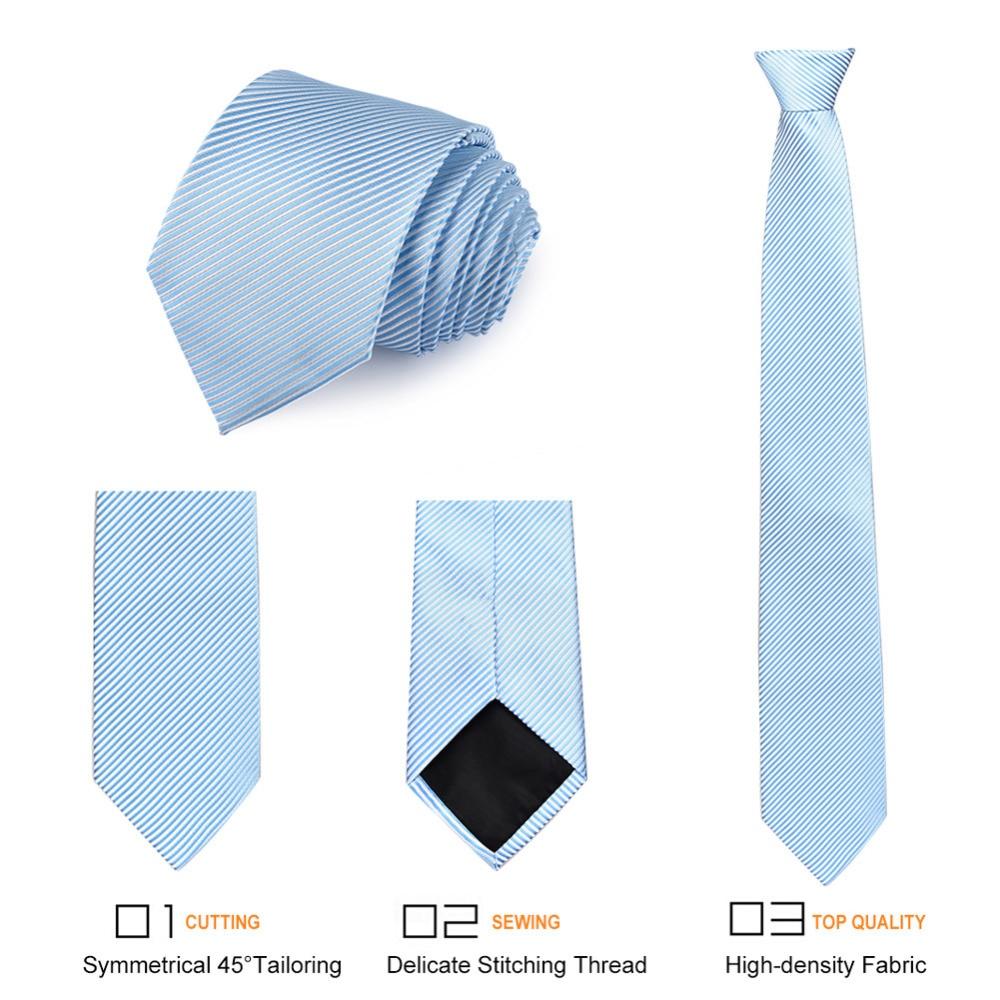 Vbiger hombres corbatas de corbata trajes azul rayado diseño ...