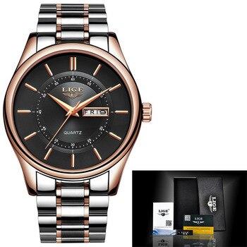 Lige Luxury Fashion Dress Waterproof Men Quartz Watches 5