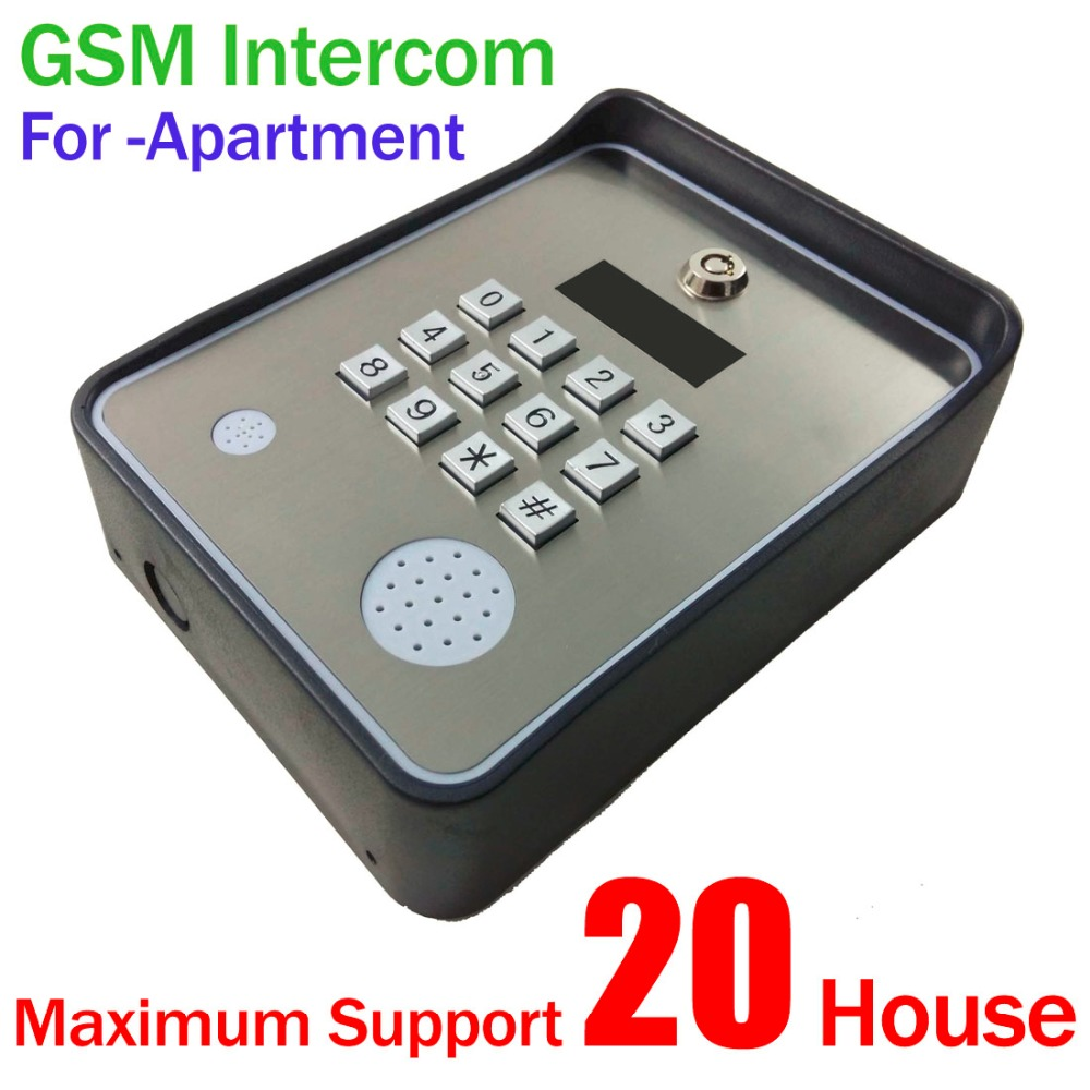 Brand New Code / Keypad Wireless GSM audio Door Phone Intercom for Smart SMS Door lock remote release and SMS alarm автоматический открыватель двери brand new rtu5025 gsm 999 sms 1output 2