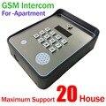 Nova marca Código/Teclado Sem Fio GSM Telefone Da Porta de áudio interfone para SMS Inteligente fechadura Da Porta de lançamento remoto e SMS alarme