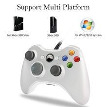 Contrôleur de manette filaire USB pour Xbox 360 pour Microsoft Xbox360 manette de contrôle compatibilité manette pour PC Windows 7 8 10