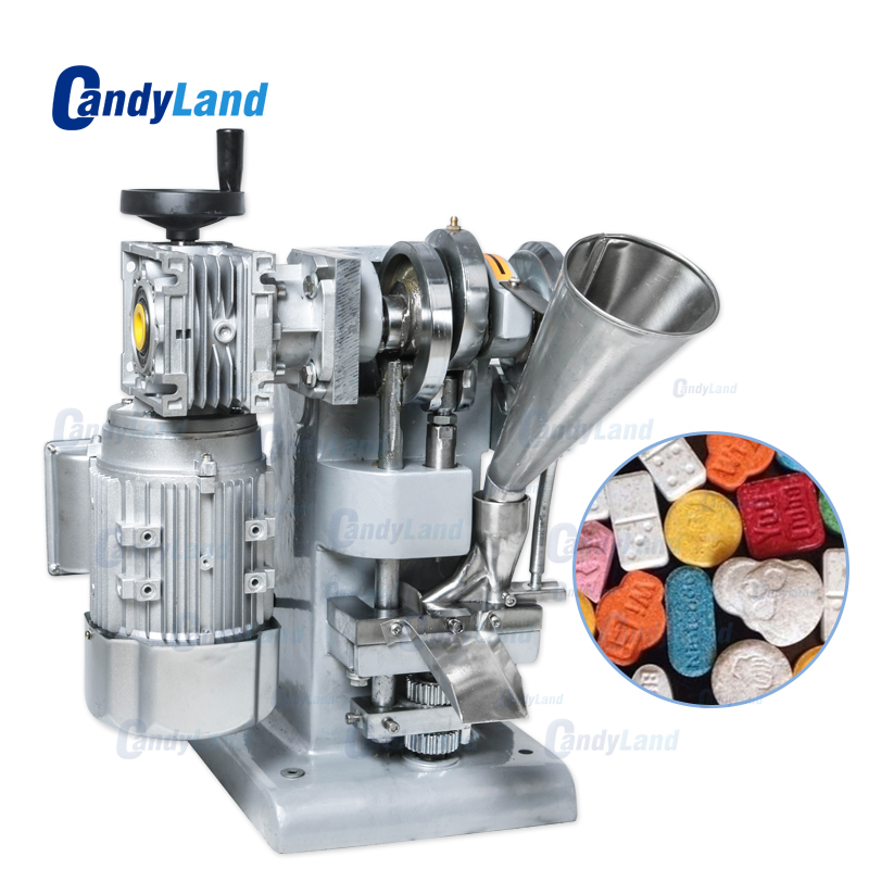 CandyLand TDP1 Single Punch Candy Tablet Making Machine Single Punching Tablet Press Herbal Pill Making Machine For DIY Mold