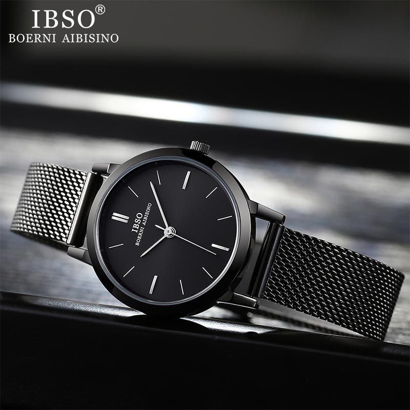 Image 4 - IBSO ブランドの女性のクォーツ時計 8  ミリメートル超薄型メッシュステンレススチールストラップクォーツ時計時間女性シンプルなレロジオ masculino     グループ上の 腕時計 からの レディース腕時計 の中