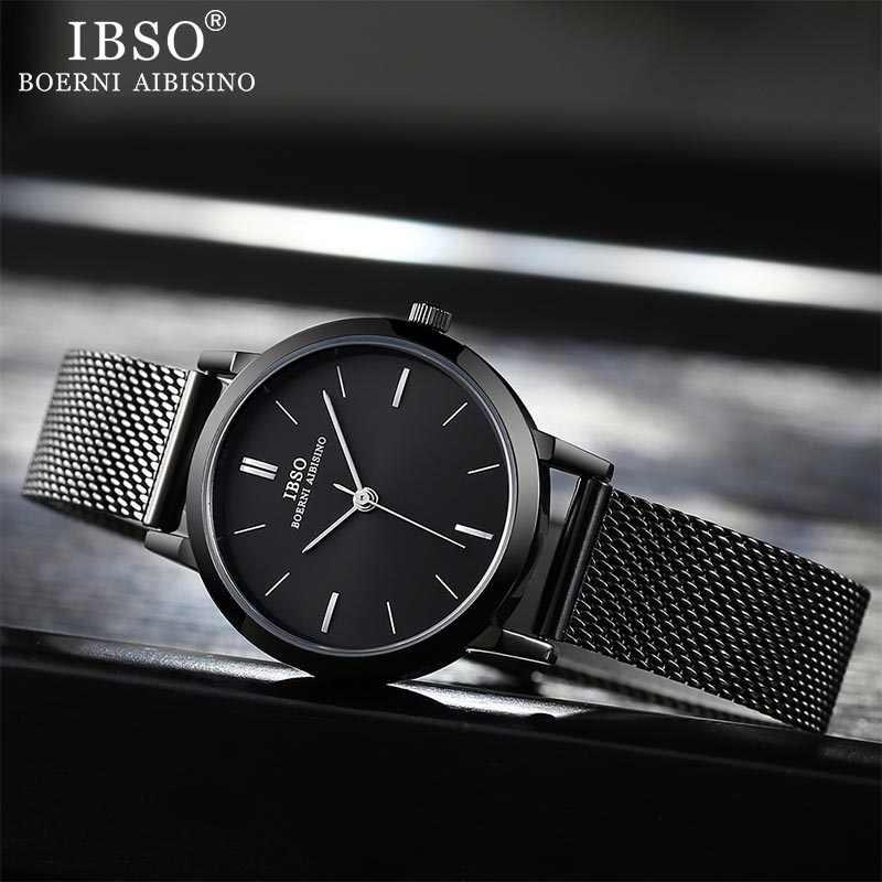 Minimalistischen frauen Uhren 8mm Ultra dünne Mesh Edelstahl Armband Quarzuhr Uhr Stunden Damen Einfache Relogio Masculino