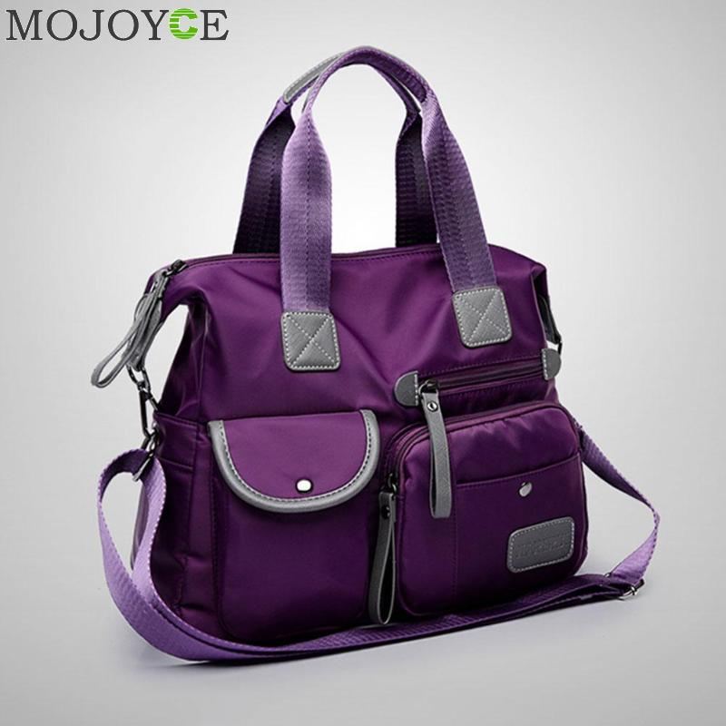 все цены на Multiuse Women Travel Handbag Waterproof Nylon Shoulder Bag for Mummy Messenger Bag Large Capacity Female Travel Handbags онлайн