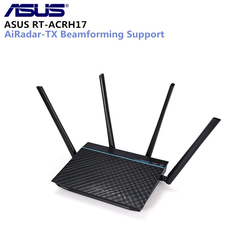 ASUS RT-ACRH17 AC1700 Dual-Band Gigabit WiFi Router With MU-MIMO 1700Mbps Wireless Router Quad-Core Antennas Gigabit WiFi Router цена и фото