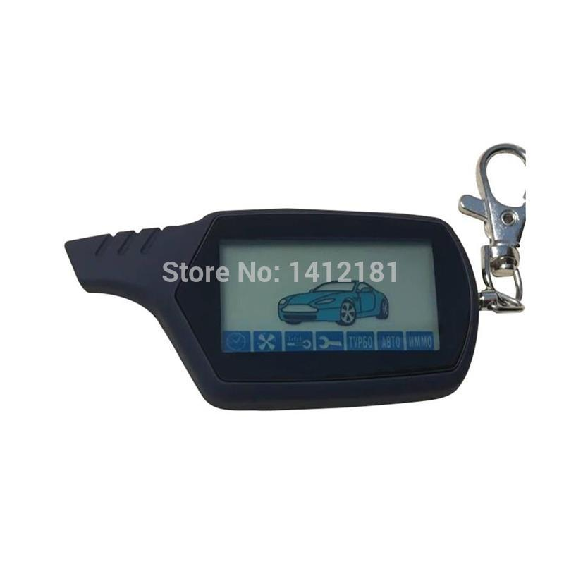 A 91 2-way LCD Remote Control Key Chain For Russian Version Vehicle Security Two Way Car Alarm System Starline A91 Keychain Fob(China)