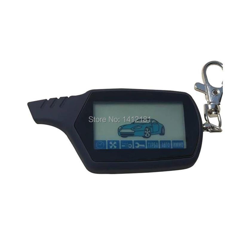 Qualidade superior um 91 2-way lcd chave de controle remoto para a segurança do veículo russo sistema de alarme de carro em dois sentidos starline a91 chaveiro fob
