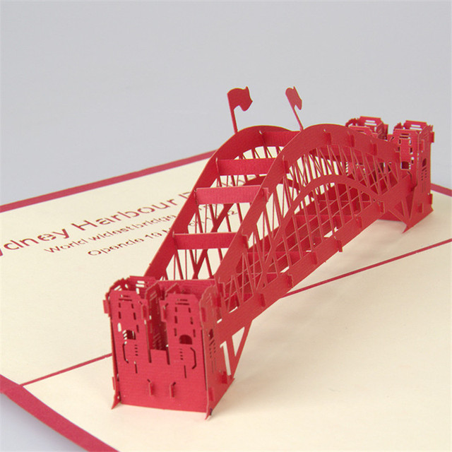 Handmade sydney harbour bridge 3d pop up greeting cards handmade handmade sydney harbour bridge 3d pop up greeting cards handmade kirigami card business birthday creative gifts colourmoves