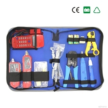 Network Combination Cable Wire Tester Crimping Cutter Punch Down Tools Kit RJ11 RJ45 Phone Checker Computer