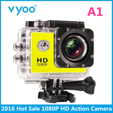 Hot Sale Action Camera 2.0 LCD 1080P HD Waterproof Camera 140 Wide Angle Action Cam vyoo Brand A1 Sport Camera sj 4000 go pro