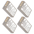 4 pack ps-bls5 bls-5 bls5 bls-50 bls50 baterías para olympus pen e-pl2, e-pl5, e-pl6, e-pl7, e-pm2, OM-D E-M10, E-M10 II, Stylus 1.