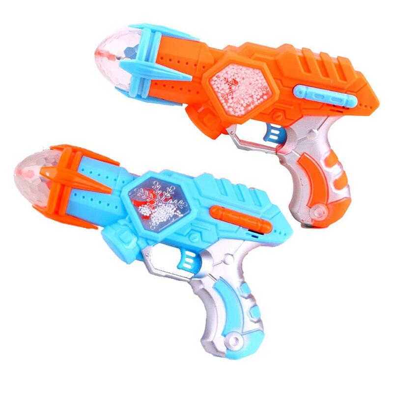 Plastic Rotating Light Kids Gifts Toy Kids Toys Flashing Sound Gun Cool Music Gun Interesting Space Snowflake Children