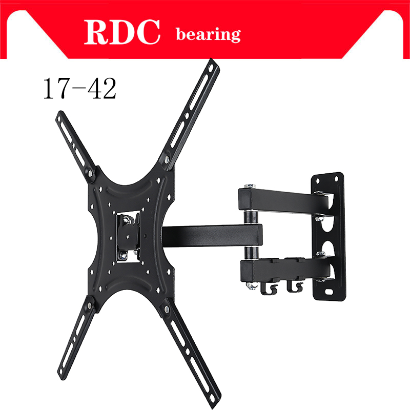 Support 25KG Retractable Full Motion TV Wall Mount Bracket Wall Stand Adjustable Mount Arm Fit for Plasma Flat LED TV 17-32 lcd bracket tv mount wall mount wall stand adjustable mount arm fit for 26 50 max support 40kg can swing left and right page 9