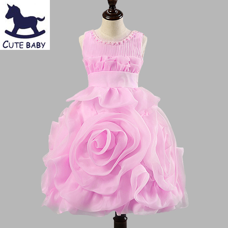 New 2016 Flower Girls Christening Wedding Party Pageant Dress Bridesmaid Clothing Baby First Communion Toddler Gowns Child vestido handmade christening wedding party pageant dress baby first communion toddler gowns child bridesmaid ballet dress