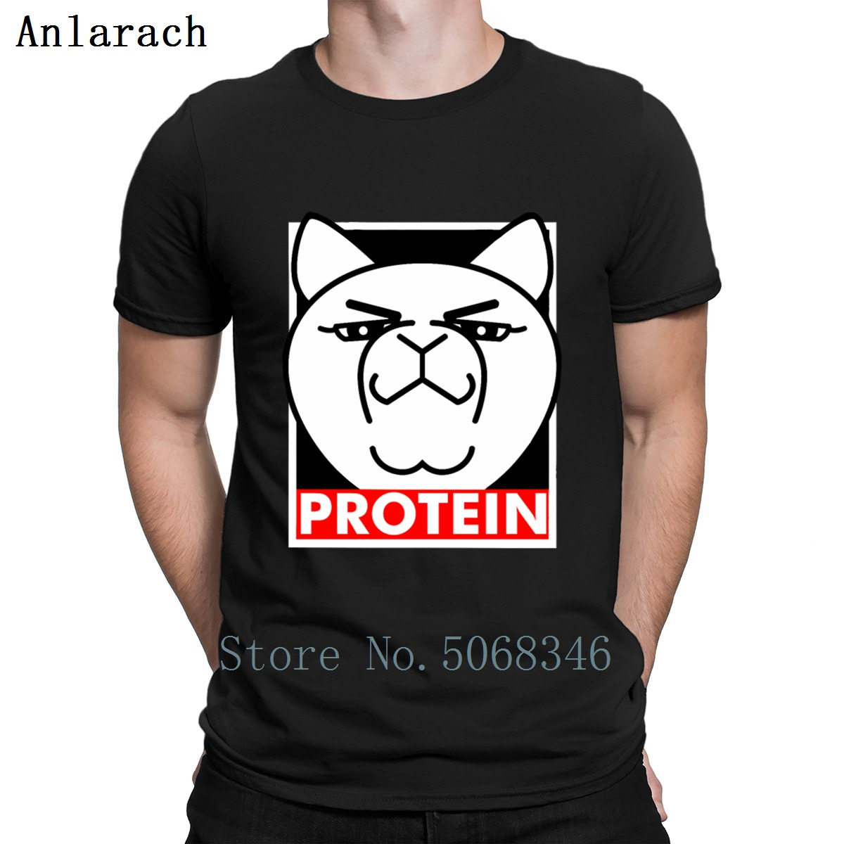 Protein Aggretsuko T Shirt Design Euro Size S-3xl Fit Spring Autumn Funny Casual Solid Color Outfit Tee Shirt Shirt