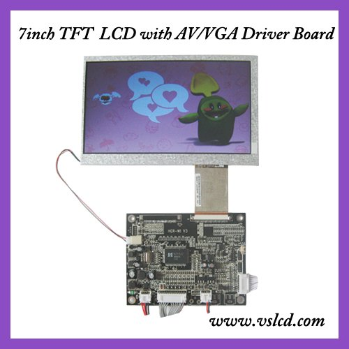 VGA+AV+OSD tft VGA driver board HCR-N1 V3+7inch  tft lcd module HSD070IDW1 7 tft 800*480 for car DVD 10 4inch a104sn03 800x600 4 3 tft lcd display vga av driver controller board card