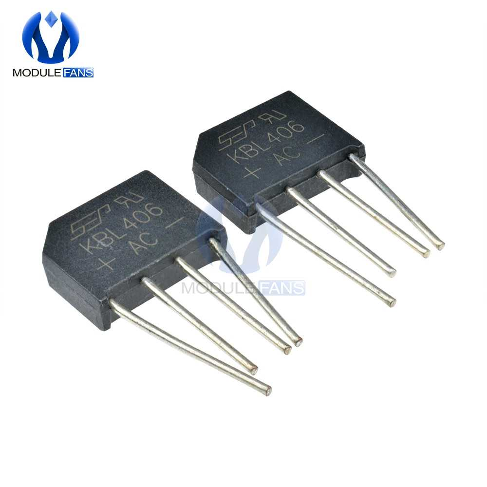 5PCS High Temperature Soldering KBL406 600V SIP-4 4A Diode Bridge Rectifier Single Phase Bridge Rectifier Diy Electronic