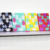 Creative Soft Cover Puzzle Notebook Blank Paper For Kids DIY Daily Memos Writing Notepad School Office
