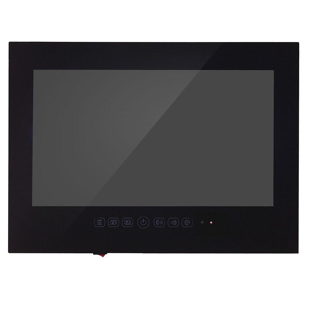 """Souria 27"""" inch Full HD 1080 Waterproof Bathroom LED TV Shower TV IP66 Water-Resistant Display (Black/White)"""