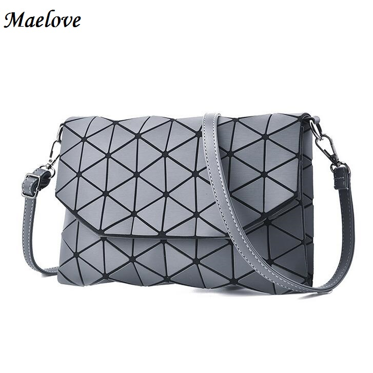 Maelove 2017 New Women handbag Geometry Lattic Clutch Envelope Bag Fold Over Matt Color bag Free Shipping yuanyu 2018 new hot free shipping real python skin snake skin color women handbag elegant color serpentine fashion leather bag