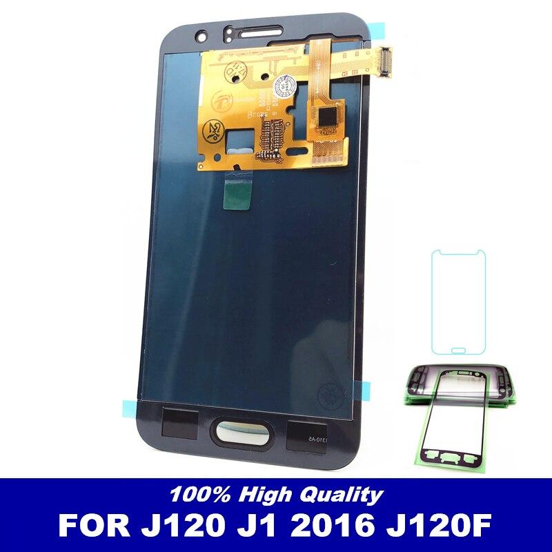 Haute qualité capteur LCDS remplacement pour Samsung Galaxy J1 J120 2016 J120F J120M J120H LCD affichage tactile numériseur pièces d'écran