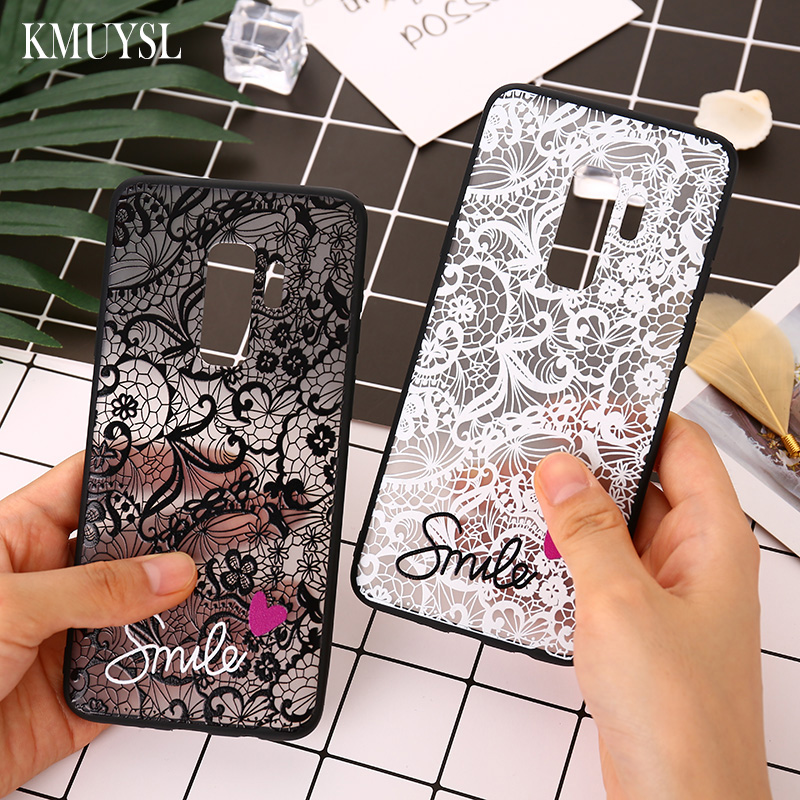 Flower <font><b>Cases</b></font> For Samsung galaxy J4 J6 A8 A6 A7 2018 Note 10 9 <font><b>S8</b></font> S9 S10 Plus A80 A60 A50 A40 A30S A20 A10 M20 Love Heart Cover image