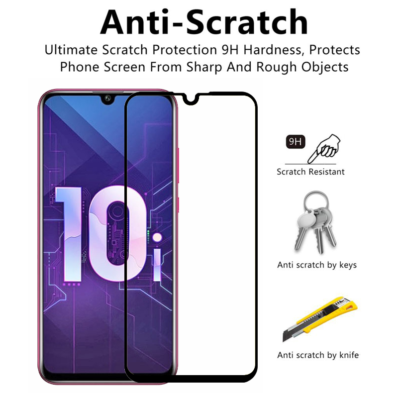 "Image 2 - 2pcs 3D Tempered Glass On 10i Honor 10i Screen Protector Full Cover Protective Glass For Huawei Honor Honer 10i 6.2"" HRY LX1T-in Phone Screen Protectors from Cellphones & Telecommunications"