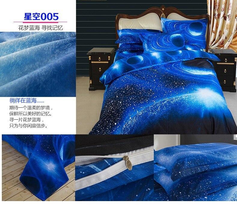 Océano azul cielo estrellado diseño de impresión 3d galaxy tema textiles para el
