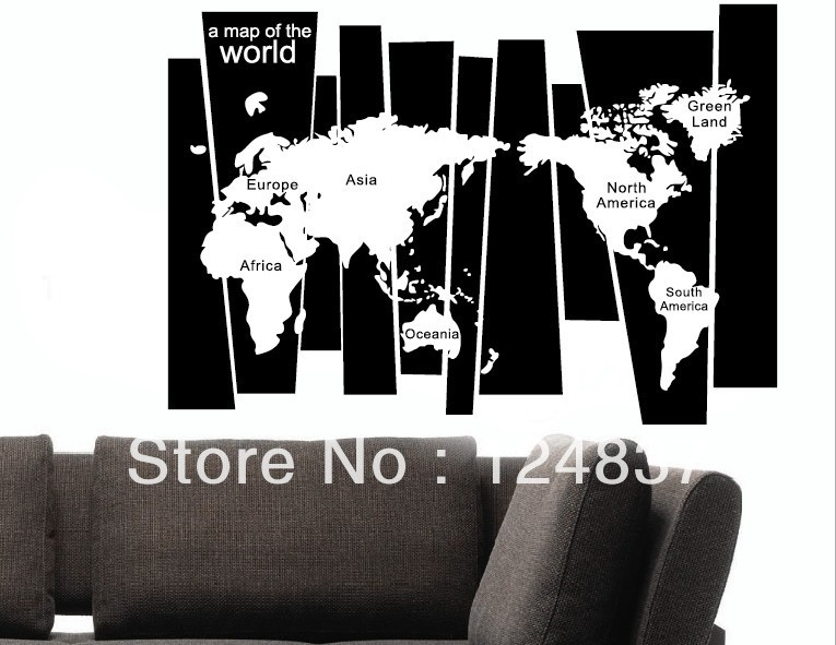 A map of world vinyl wall art removable decals family office a map of world vinyl wall art removable decals family office sticker quotes wall stickers world maps home decor christmas gift in wall stickers from home gumiabroncs Choice Image