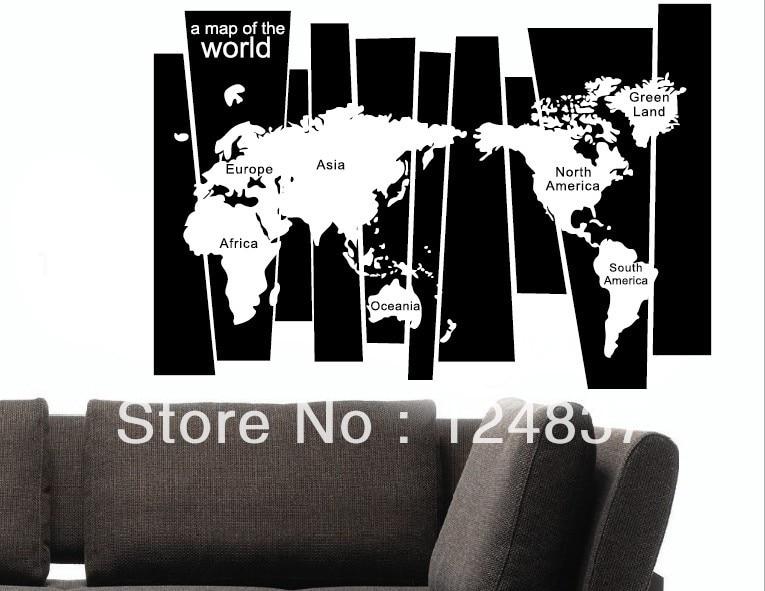 World Map Wall Sticker Decor