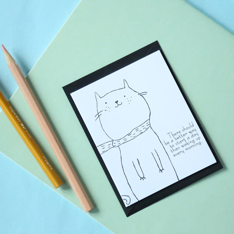 23 female south korean stationery simple line drawing