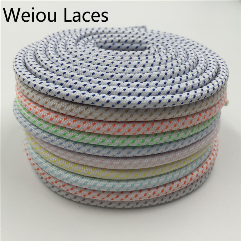 (200Pairs/Lot)Weiou CBRL Kids Shoestring Bright Color Running Bootlace Sneaker Rope Shoelace Athletic White Hiking Shoe Laces jup 50 pairs sneaker shoelaces skate boot laces outdoor sport casual multicolor bumps round shoelace hiking slip rope shoe laces