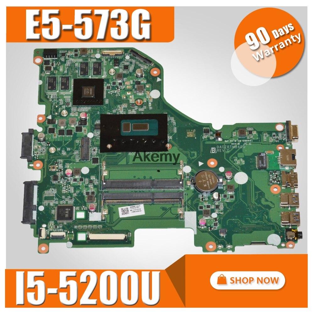E5 573G mainboard For Acer Aspire E5 573G E5 573 Motherboard I5 5200U GT940M 2GB DA0ZRTMB6D0 Test work 100% original