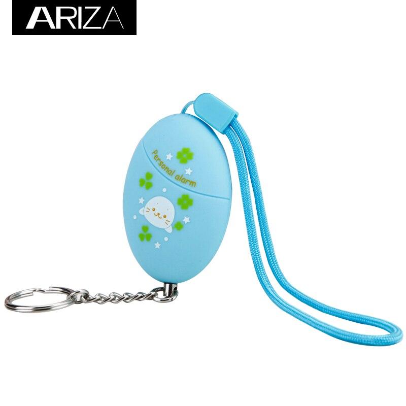 ARIZA  Emergency self defense Personal Alarm for Wolf Alarm anti-lost safety keychain alarm personal anti lost alarm device for kid pet purse bag cell phone blue black 1 cr2032 2 cr2032