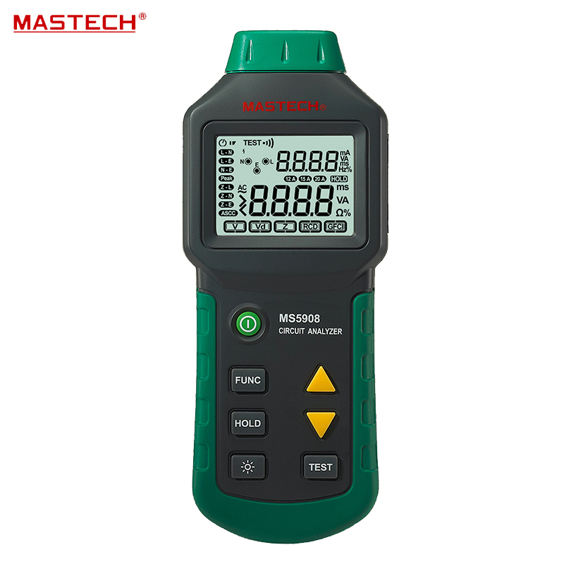 Ture RMS Circuit Analyzer Tester Compared w/ IDEAL Sure Test Socket Tester 61-164CN 110V or 220V Mastech MS5908