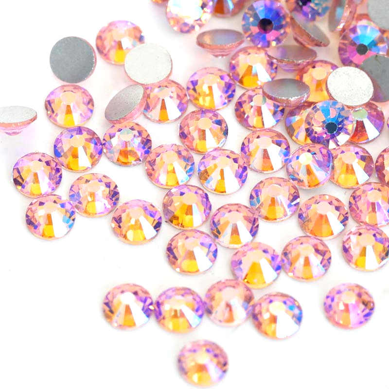 6846f9f117 2028 SS3-SS30 Fuchsia AB Non Hot Fix Rhinestones Glass Non Hotfix  Rhinestone Glitter Rhinestones For Nail Art Decorations B2540