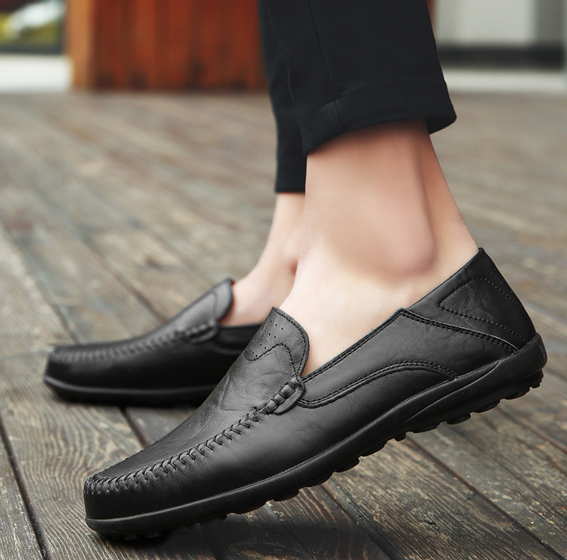HTB1MVKELXzqK1RjSZFvq6AB7VXam Summer Men Shoes Casual Luxury Brand Genuine Leather Mens Loafers Moccasins Italian Breathable Slip on Boat Shoes JKPUDUN