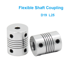 1PC Aluminium Alloy Shaft Coupling Flexible Coupling OD 19x25mm Motor Jaw Shaft Coupler 6/8/10mm bw40t od40 l55 flexible metal bellow shaft coupling