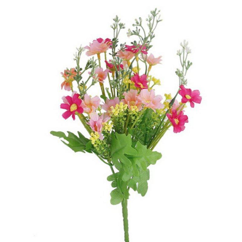 1 manojo de cineraria flores artificiales ramo home office decor para todos los