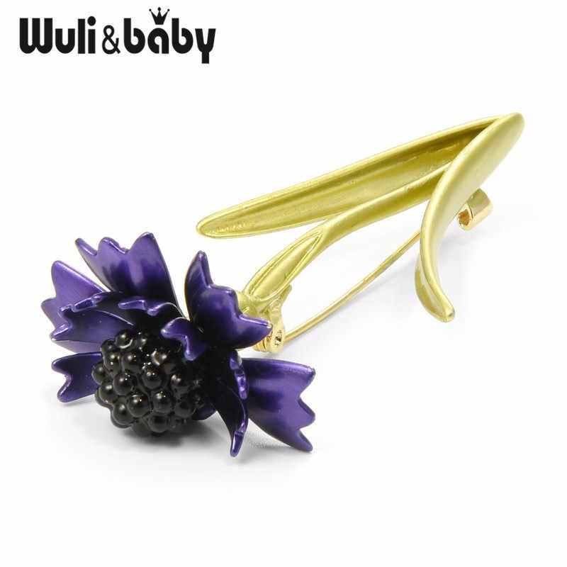 Wuli Bayi Berwarna Merah Muda Biru Cornflower Bunga Daisy Enamel Bros 2019 Wanita Pria Pernikahan Bros Pin