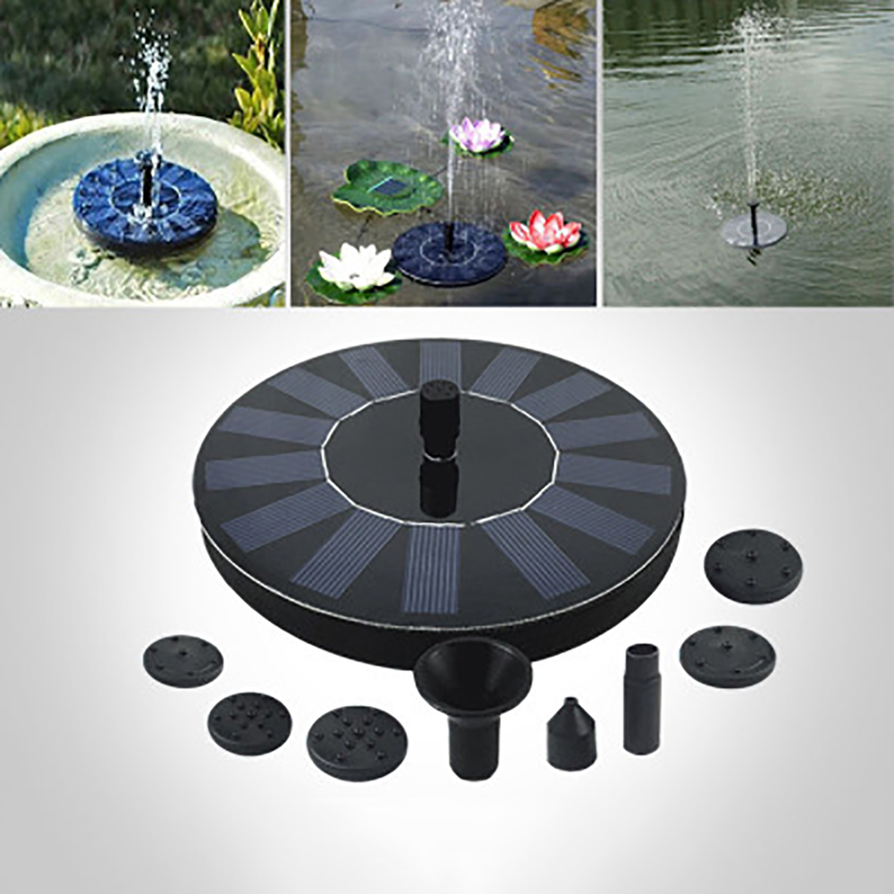 1PC Outdoor Solar Powered Floating Bird Bath Water Fountain Pump Garden Pond Pool Floating Solar Park Pool1PC Outdoor Solar Powered Floating Bird Bath Water Fountain Pump Garden Pond Pool Floating Solar Park Pool