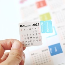 4 pack 2018 Monthly Calendar Index Tabs Stickers/Lable Marker Notes/Page Dividers, Self Adhesive, 15 Tabs
