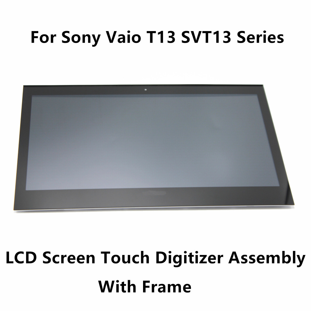 Touch Screen Digitizer Glass LCD Display Assembly+Bezel For Sony Vaio SVT1313X9RS SVT131A11L SVT131A11V SVT131B11L SVT1313Z1RS