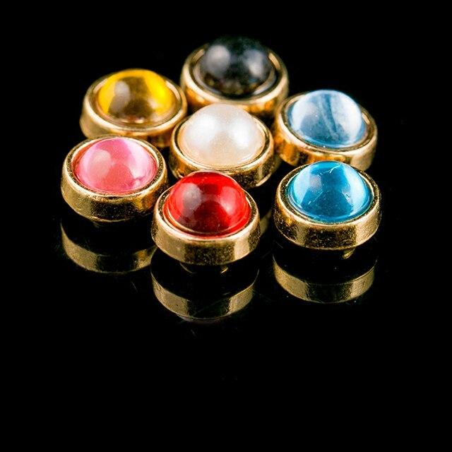 d5e493d1ecf Artificial Opals Gem With Inlay Base garment rivet studs for bag ...