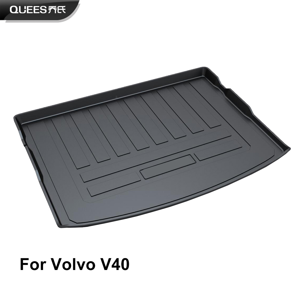 QUEES Custom Fit Cargo Liner Boot Tray Trunk Floor Mat for Volvo V40 Cross Country 2012